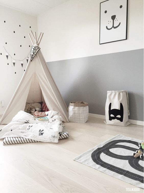 Bron: https://frenchyfancy.com/inspiration-diy-tipi-chambre-enfant/