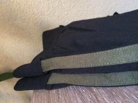 Zwarte legging met groene streep, Wibra: €7,99