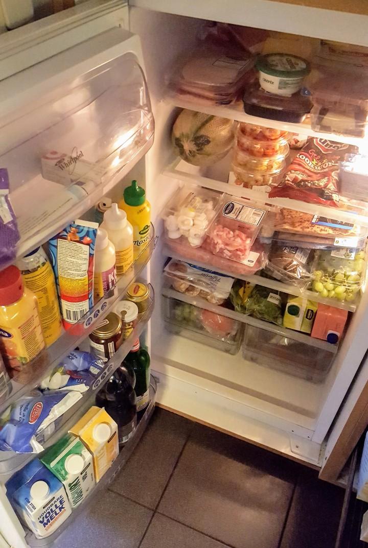 De koelkast van een grootgezin